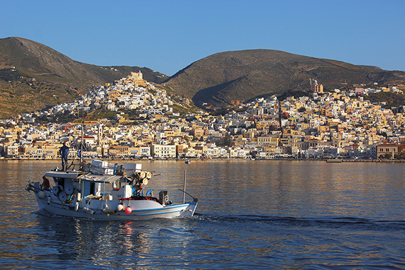 The Greek island of Syros